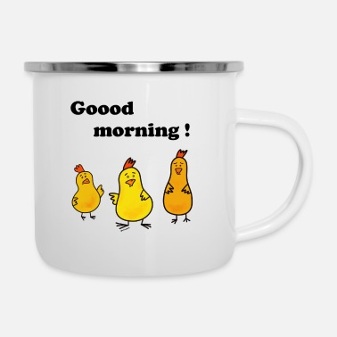 Good morning cup - Enamel Mug