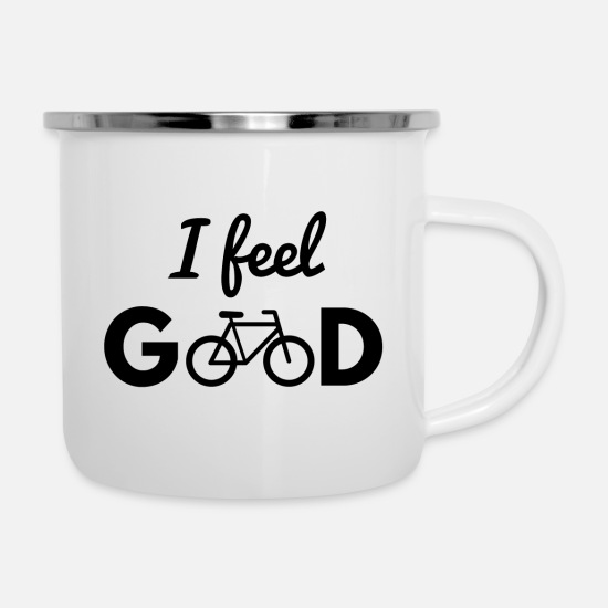 Bicyclette Mugs & Drinkware - Bicycle, bike, bike, bike, biking, sport - Enamel Mug white