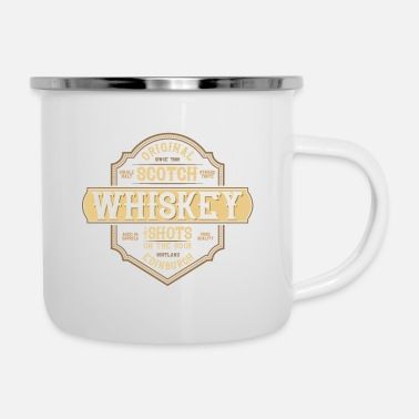 Whiskey WHISKEY - Emaille-Tasse