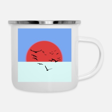 Ink Glowing sun - Enamel Mug