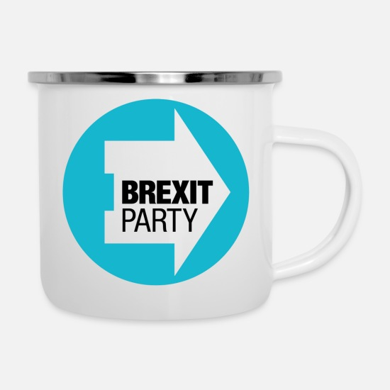 Brexit Mugs & Drinkware - Brexit Party - Enamel Mug white