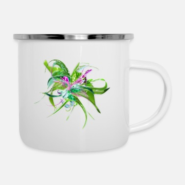 Summer flower by Mia Niemi - Enamel Mug