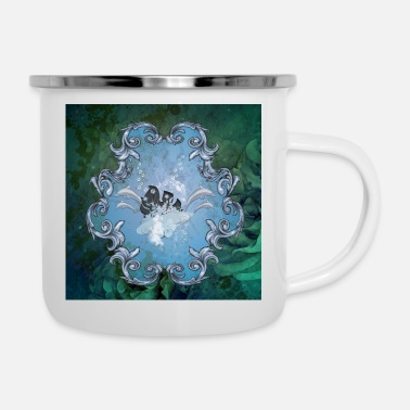 Blasen Surfboard with flowers - Enamel Mug