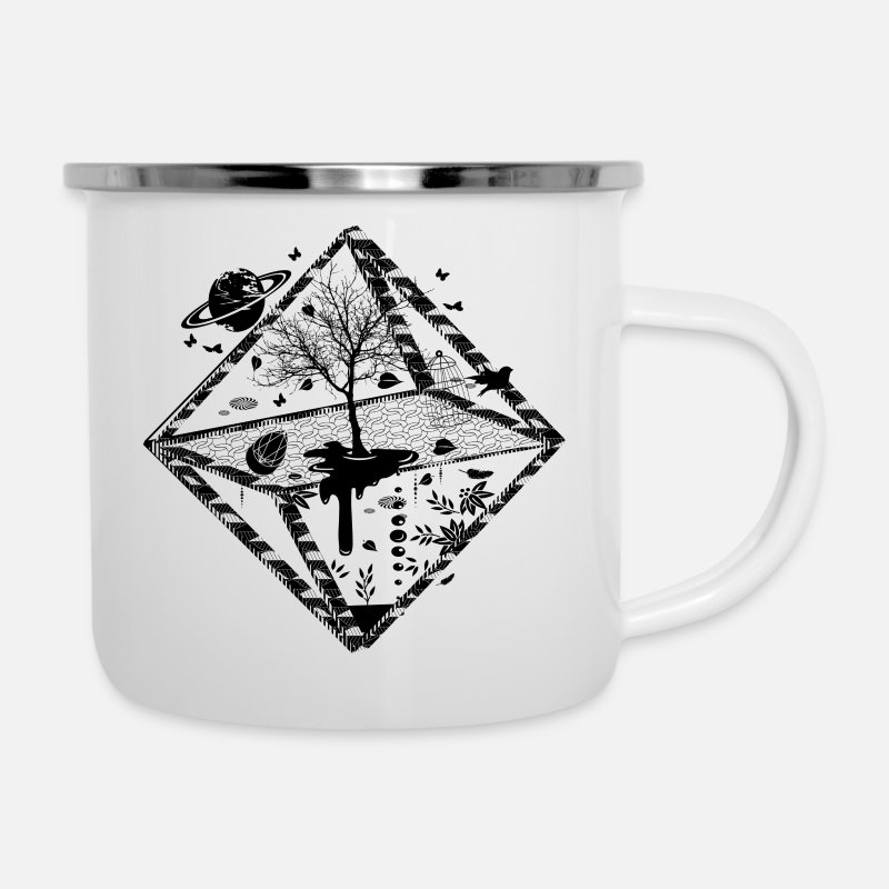 Object Mugs & Drinkware - A surrealistic object  - Enamel Mug white