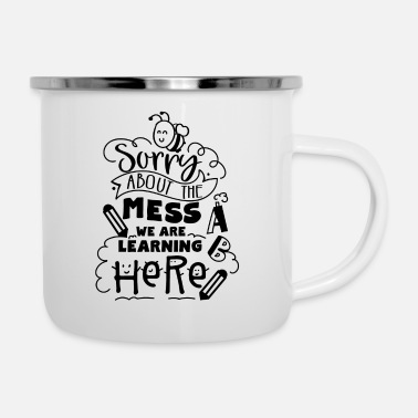 Pen We Are Learning Here - Enamel Mug