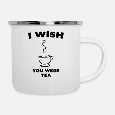 Swag I wish tea teabags sugar green tea gift - Enamel Mug