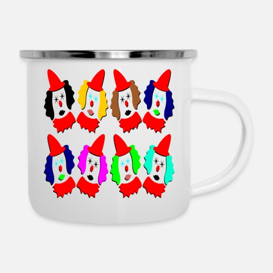 Children's Birthday Party Mugs & Drinkware - 8 clowns kids birthday gifts - Enamel Mug white