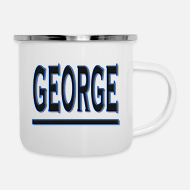 Family Crest My Name is George - Enamel Mug