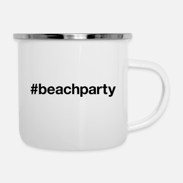 Beachparty BEACH PARTY - Emaille mok