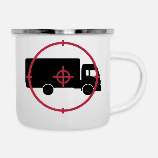 Carrier Mugs & Drinkware - Mover Frachtführer Déménageur Déménagement - Enamel Mug white