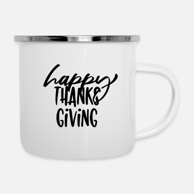 Merci Happy Thanksgiving Heureux Merci Donner - Mug émaillé
