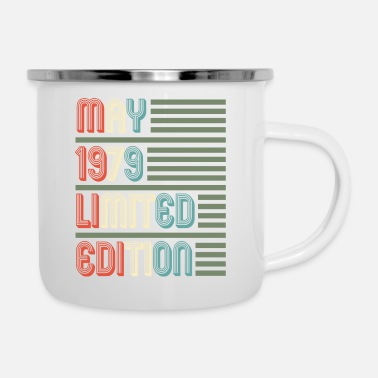 Tired May Cool Vintage Retro Birthday Gift For Your - Enamel Mug