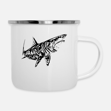 Predatory Fish White shark - Enamel Mug