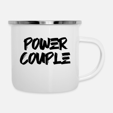 Couple POWER COUPLE GOAL PASSION TRUE FOREVER GIFT IDEA - Emaljekrus