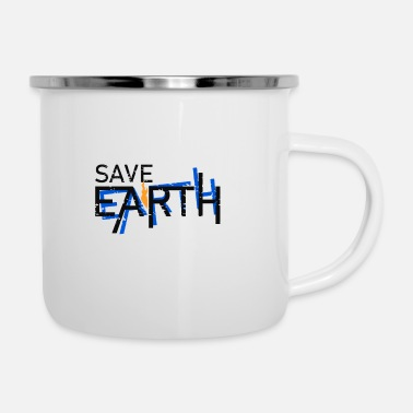 Rettet unsere Erde, Save Earth - Emaille-Tasse