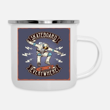 Outerspace Skateboard Everywhere OuterSpace - Enamel Mug