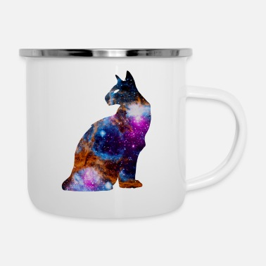 Outerspace Space Cat | Space Katzel | Gift idea - Enamel Mug
