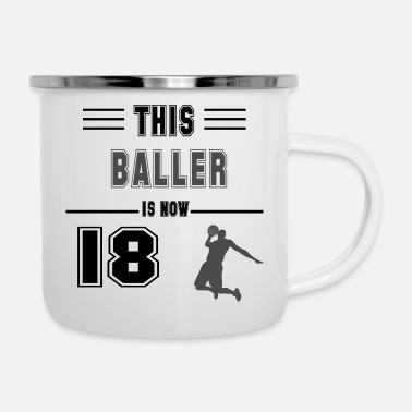 Softball Birthday gift for 18 years old basketball lovers f - Emaille-Tasse