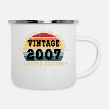 Birthday 13 Year Old Gift Vintage 2007 Limited Edition 13th - Enamel Mug