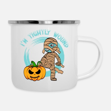 Egypt I'm Tightly Wound Tshirt Design Spooky Creepy - Enamel Mug