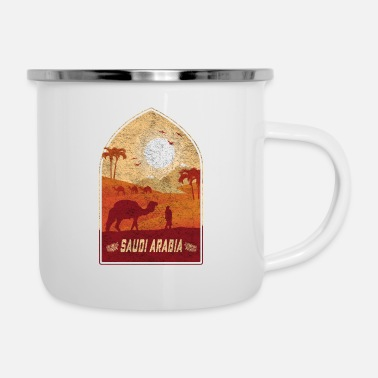 Arabia Arabia Saudita design vintage cammello / idea regalo - Tazza smaltata