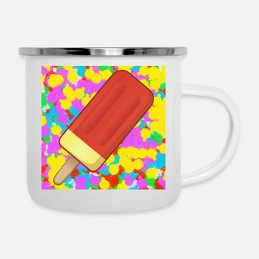 Mourir Ice Lolly Pop Color Tie Dye Background Funky Cool - Mug émaillé