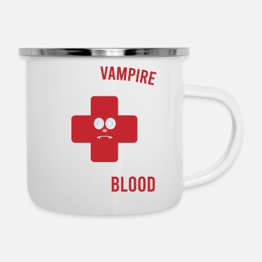 Witch Save A Vampire Donate Blood Tshirt Design - Enamel Mug