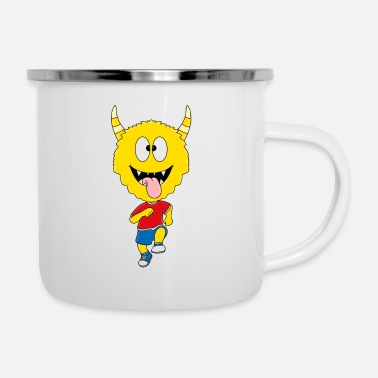 Meeting Lustiges Monster - Jogger - Marathon - Sport - Emaille-Tasse