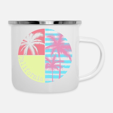 Santa California Summer - Emaille-Tasse
