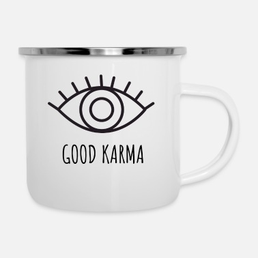 Platonic Solids Good karma 1 - Enamel Mug