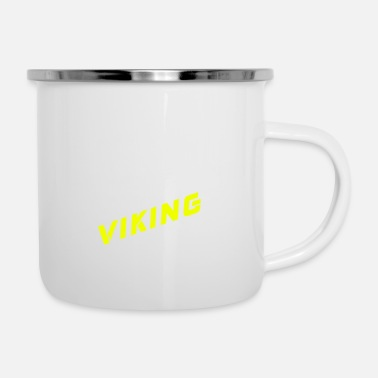Fan Viking design with skull / gift idea - Enamel Mug