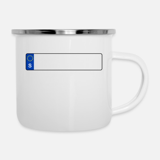 Sign Mugs & Drinkware - Registration S - Enamel Mug white