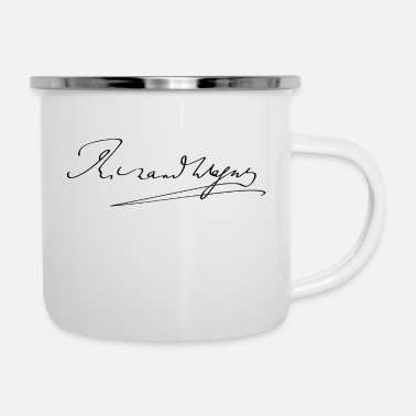 firma Richard Wagner - Tazza smaltata