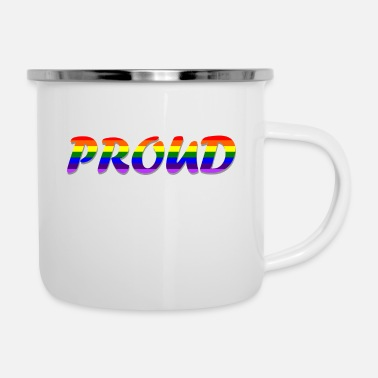 Community proud lgbtq community - Emaille mok