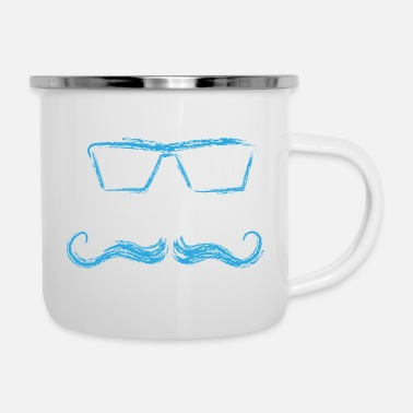 View Glasses with a look gift optics eyes design - Enamel Mug
