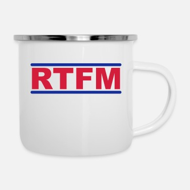 Nerdblur Com RTFM - Read The Fucking Manual - Enamel Mug