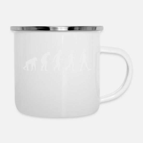 Rugby Mugs & Drinkware - evolution - Enamel Mug white