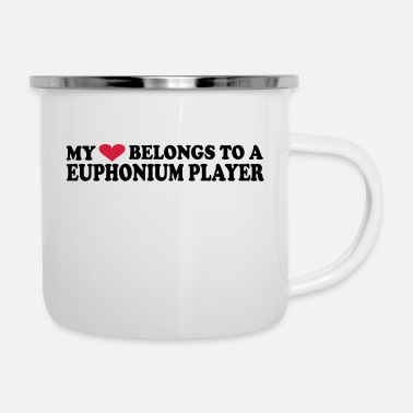 Bass MY HEART BELONGS TO A EUPHONIUM PLAYER - Emaille-Tasse