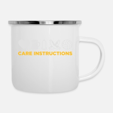 Care Instructions For This Man. - Enamel Mug