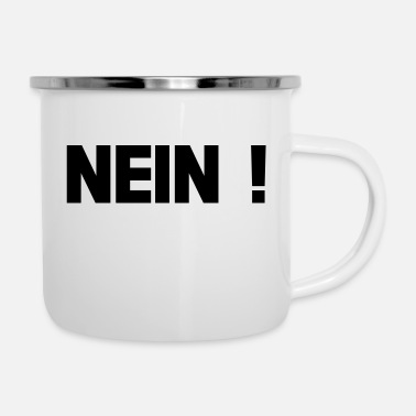 nein - Tazza smaltata