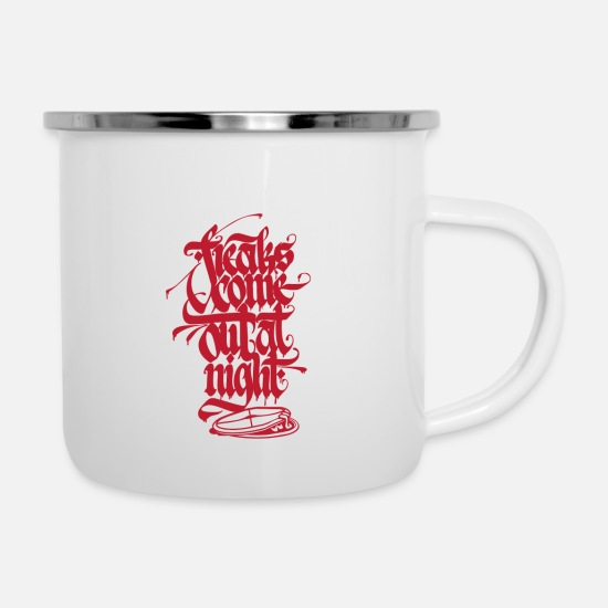 Rap Mugs & Drinkware - Freaks come out at night - Enamel Mug white