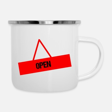 Open OPEN - Emaille-Tasse