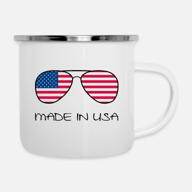 Staat Made in USA Amerika Stars and Stripes Sonnenbrille - Emaille-Tasse