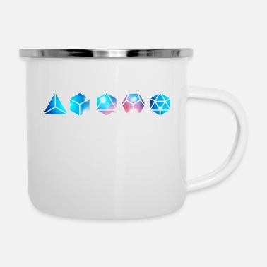 Platonic Solids Platonic solids, building blocks of life, elements - Enamel Mug