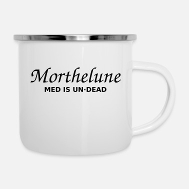 Undead Morthelune - Med is undead - wit - Emaille mok