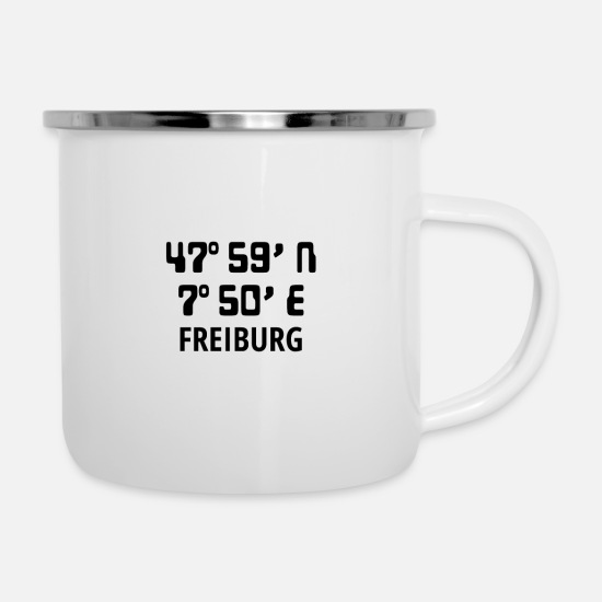 Love Mugs & Drinkware - Freiburg - Enamel Mug white