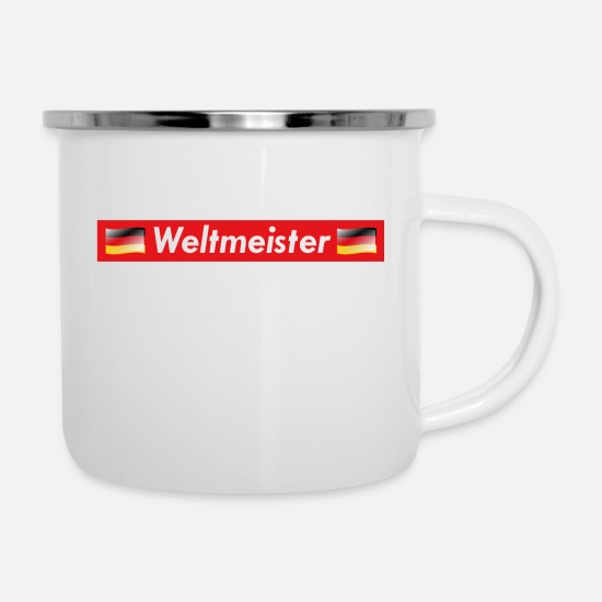 Red Mugs & Drinkware - World Champion Germany - Enamel Mug white