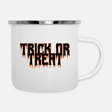 Trick Or Treat Trick or Treat Halloween Trick or Treat-idé - Emaljmugg