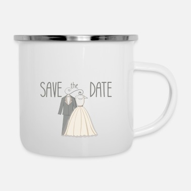 Date Of Birth save the date - Enamel Mug