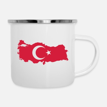 Turkey with flag - Enamel Mug